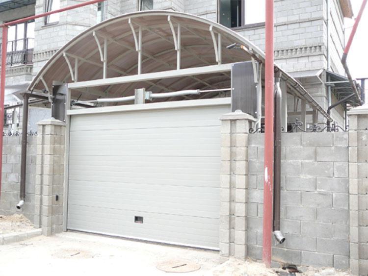 гаражные ворота навесные своими руками